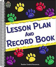 Paw Prints Lesson Plan and Record Book by Teacher Created Resources Staff...