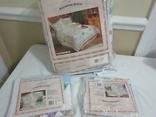 CRYSTAL STAR patchwork Quilt Patches starburst triangles floral & blanket shams
