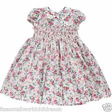 RALPH LAUREN smocked floral DRESS baby girls 9/12M (eu80) Special Occasion BNWT