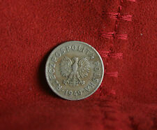 Poland 20 Groszy 1949 World Coin Copper Nickel Y43  Crown Eagle Polish Europe