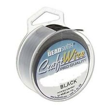 Craft Wire 22gauge (0.64mm) Black Beadsmith Pro Quality Non Tarnish
