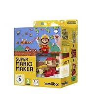 Super Mario Maker & Mario amiibo Bundle - PAL Region Locked [Nintendo Wii U] NEW