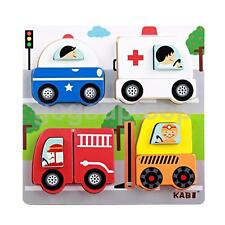 Children Wooden Puzzle Toys Cars Jigsaw Baby Toddler Educational Toy Gift