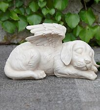 Dog Puppy Angel Memorial Pet Marker Garden Statue