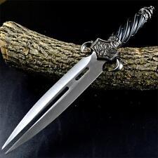 """13"""" DRAGON FANTASY CLAW Collector TWIN FIXED BLADE KNIFE Dagger Sword w/ SHEATH"""