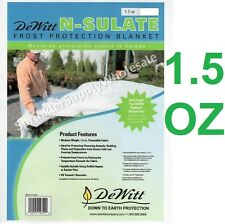 DeWitt N-Sulate 12' x10' 1.5oz Frost Protection Fabric Freeze Cloth NS12 Blanket