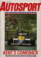 Autosport 27 Jun 1985 - Detroit Grand Prix Rosberg,Beatrice Ford F1 turbo,