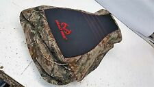 HONDA FOREMAN 500 REALTREE seat cover new gripper & camo  2005 -  2011 red logo