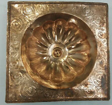 Red Square Copper Handmade Moroccan Sink,Basin, Moulded & Engarved