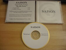 RARE PROMO Saison CD single So In Love 1997 Philippine Queen of Soul r&b 2 trax