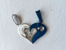 1P Valentine's day gift Titanium stainless steel Love Heart Couple pendant ONLY