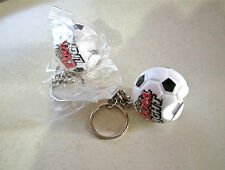 "2 X NEW COORS LIGHT BEER PROMO SOCCER BALL KEYCHAIN BOTTLE OPENER 4"" LENGTH"