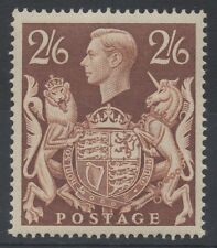 GVI - SG476. 2s 6d brown. Fine and fresh unmounted mint.