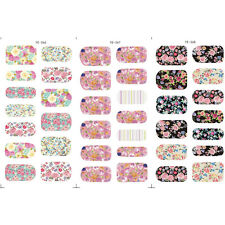 3Sheets Flowers Pattern Manicure Nail Art Water Decals Transfer Wraps Stickers