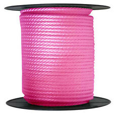 """ANCHOR ROPE DOCK LINE 3/8"""" X 50' BRAIDED 100% NYLON PINK MADE IN USA"""