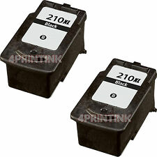 2 Pk PG210XL PG-210XL Black Ink For Canon PIXMA MP240 MP250 MP280 MP480 MP490