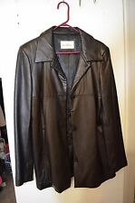 LEATHER JACKET BLACK COLOR LARGE FOR WOMANS %100 LEATHER