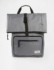 D-STRUCT GREY FOLD OVER BACKPACK BAG RUCKSACK MAN BAG SCHOOL COLLEGE WORK TRAVEL