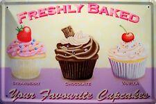 Cupcakes Muffins Blechschild Schild Blech Metall Metal Tin Sign 20 x 30 cm