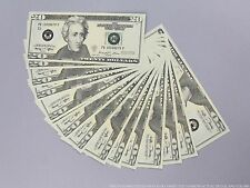 THE BEST PROP MONEY $2,000 NEW STYLE $20 Full Print Stack for Movie & TV