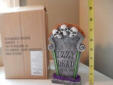 "Department 56 Halloween IZZY DEAD Tombstone Headstone  (8"" Tall) Eyes Light up!!"