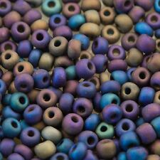Czech Seed Beads E Beads 6/0 Frosted Opaque Purple/Blue Mix 15g 10106055