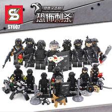LEGO SWAT SOLDIERS BLOCKS MINIFIGURES MILITARES TOYS JUGUETES SOLDADOS POLICE...