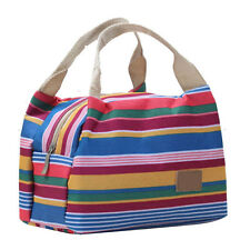 New Thermal Insulated Lunch Box Tote Cooler Zipper Bag ento Lunch Bags Pouch  B