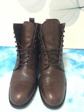 Rive Gauche * Italian Leather Ankle Boots In Chestnut 39/8.5