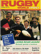 RUGBY WORLD MAGAZINE DECEMBER 1987 - PERFECT GIFT FOR A FAN BORN IN THIS MONTH