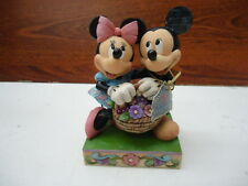 Enesco Disney Traditions by Jim Shore 4032589 Love In Bloom Basket AS IS
