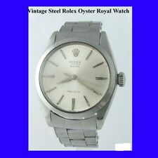 Vintage Steel Rolex Oyster Royal Precision Gents Wrist Watch 1962