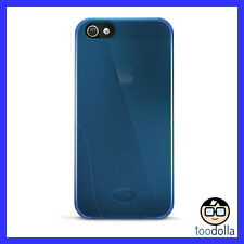 iSkin Solo premium silicone case for Apple iPhone 5/5s, Translucent Blue, NEW