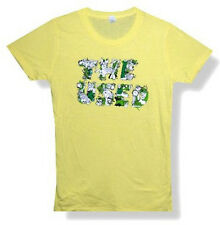"THE USED - ""ICONS LOGO"" SOFT YELLOW BABYDOLL T-SHIRT - NEW LADIES LARGE"