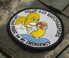 AUSSIE JOINT TASK FORCES 633 HQ JTF633 MIDDLE EAST AREA OPS HOMER SIMPSON PATCH