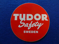 "VOLVO CLASSIC ""TUDOR SAFETY SWEDEN"" BATTERY DECAL STICKER"