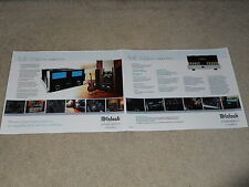 McIntosh MC 452 Amplifier Brochure, 2005, 2 pages, Articles, Info, Specs