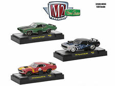 M2 MACHINES 1:64 WILD CARDS RELEASE WC06 IN PLASTIC DISPLAY CASES SET OF 3 32600
