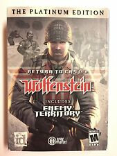 Wolfenstein Platinum Ed RETURN TO CASTLE Bonus Enemy Territory Used Mint