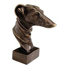 Whippet Greyhound Bust Foundry Iron Dog Statue Art Deco French Antique Replica
