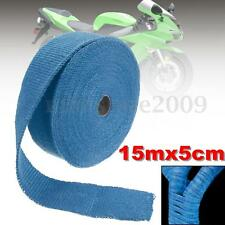 2''X15M Blue Exhaust Header Turbo Manifold Down Pipe Insulating Wrap Heat Tape