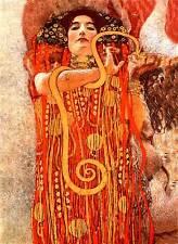 Klimt # 09 cm.50X70 Stampa Arte su Tela Canvas, papiarte