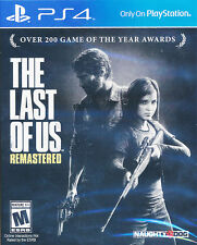 The Last of Us Remastered PS4 Game NEW (English, Portuguese, Spanish, French)