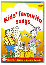 Kids Favourite Songs For Fun and Dance DVD.  Nursery rhymes, childrens *NEW*