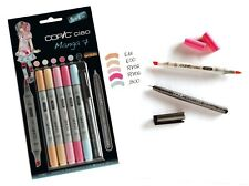Copic Ciao marcador - 6 Pen Set-Manga 7 Set-Twin con punta