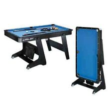 Riley PTW-5 ft Pool Snooker Table  Folding W Leg DeLuxe cues balls, triangle