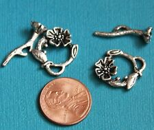 10 sets of Flower Toggle Clasps 20x17mm