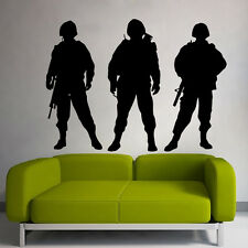 Wall Decals Vinyl Decal Sticker People Army Soldiers Military Interior Decor m15