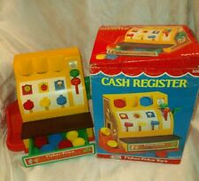 VTG Fisher Price 70s toy Cash REGISTER 926 w/ Original Box & ALL COINS