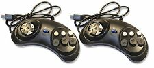 2 x Sega Mega Drive Replacement 6 Button Controller Joypad UK